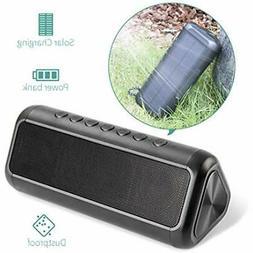 Solar Bluetooth Speaker with 5000mAh Power Bank, Elzle Porta