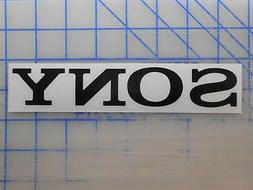 """Sony Decal 5.5"""" 7.5"""" 11"""" Stereo Receiver Remote Speaker Earb"""