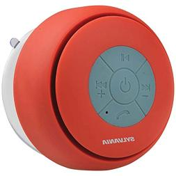 Sylvania SP230-red Bluetooth Suction Cup Shower Speaker