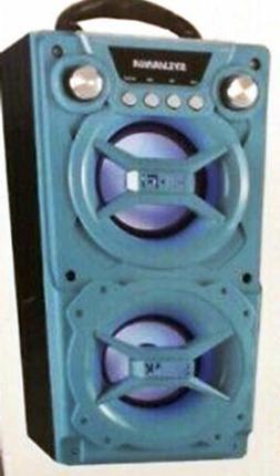 Sylvania SP328-Turquoise Portable Bluetooth Speaker