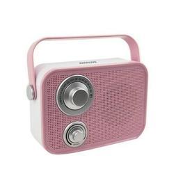 Sylvania Sp563-pink Retro Design Bluetooth Speaker