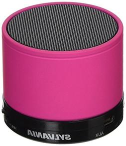 Sylvania SP631-Pink Portable Bluetooth Speaker with FM Radio