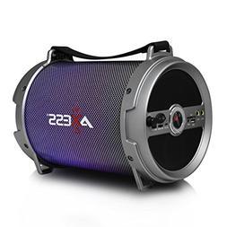 AXESS SPBL1046 Portable Bluetooth 2.1 LED Lit Hi-Fi Cylinder