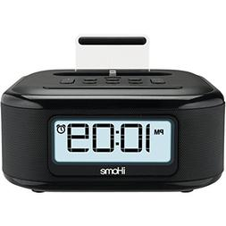 iHome Stereo FM Clock Radio with Lightning Dock Charge/Play