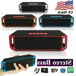 Bluetooth Stereo Super Bass Speaker Rechargeable Mini Wirele