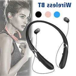 Sweatproof Stereo Neckband Headset Wireless BT 4.1 Retractab