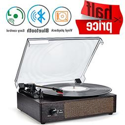 Turntable Vinyl Record Player Built in Stereo Speakers Turnt