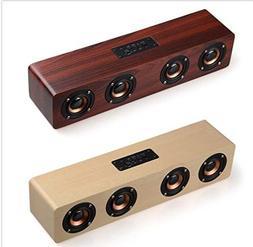 UL Multifunctional 14W Wood Sound Grain Speaker Wireless Blu