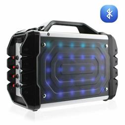 Reiko Universal Boombox Bluetooth Neon Colored Speaker In Bl