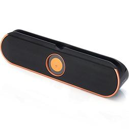 BargainPort Universal Orange Color Bluetooth Wireless Portab