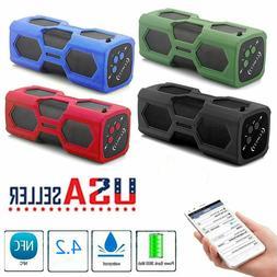 US Bluetooth Outdoor Wireless Speaker NFC Waterproof 3600mAh