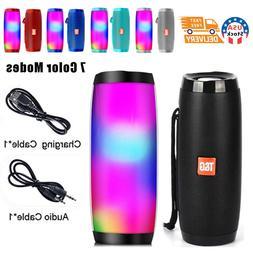 USA LED Light Bluetooth Speaker Wireless Waterproof Outdoor