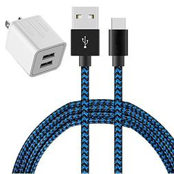 USB Type C Cable, AOKER Dual USB Portable Travel Wall Charge