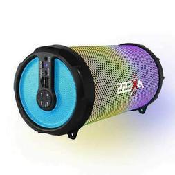 AXESS Vibrant Plus Black HIFI Bluetooth Speaker with Disco L