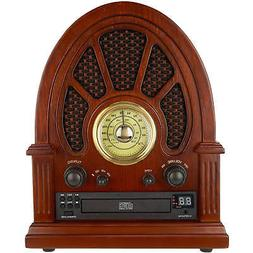 Victrola Vintage Wooden AM/FM Radio with Bluetooth and CD Pl
