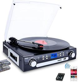 DIGITNOW Vinyl/LP Turntable Record Player, with Bluetooth,AM