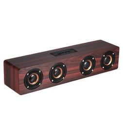 W8 Red Wood Bluetooth Speaker 4 Louderspeakers Super Bass Su