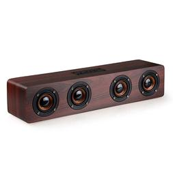 W8 Retro Wooden Wireless Bluetooth Speaker Stereo Super Bass