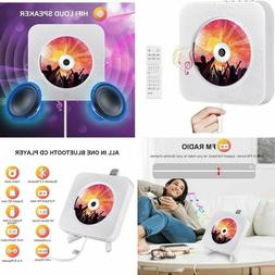 Wall Mounted Portable CD Player w/ Bluetooth HiFi Speakers R