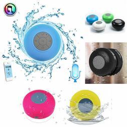Water Resistant Shower Bluetooth Music Speaker w/Sucker Supp