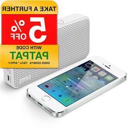 White Iluv Mini Slim Portable Bluetooth Speaker For Apple/An