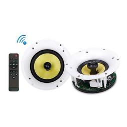 "WiFi Bluetooth Ceiling Mount Speakers - 6.5"" in-Wall/in-Ce"