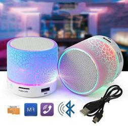 Wireless Bluetooth LED Light Speaker Portable Mini Stereo So