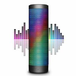 Wireless Bluetooth Speaker, Hi-Fi 4.0 Stereo LED Lights Mic,