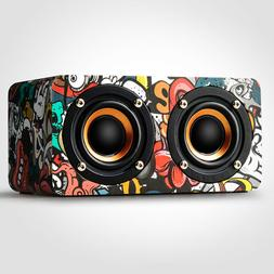 Wireless Bluetooth Speaker Retro Wooden Super Bass Stereo HI