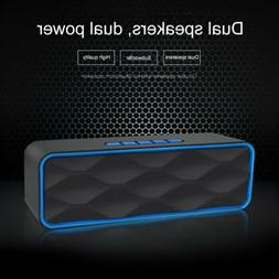 Dual Speakers Wireless Bluetooth Speaker Best Outdoor Loud P