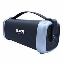 Pyle Wireless Portable AUX FM Radio MP3 Micro SD USB Bluetoo