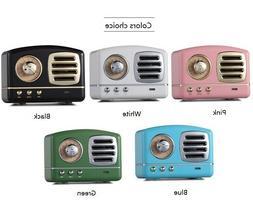 Wireless Stereo Portable Bluetooth Retro Speaker w/ AUX, Mic