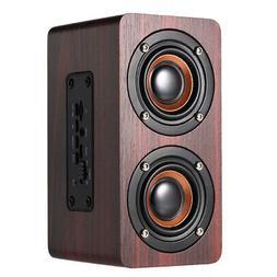 wooden subwoofer wireless bluetooth speaker hifi stereo bass